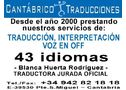 Cantábrico traducciones tel.: 942 82 18 18