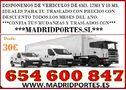OFERTA! TRANSPORTES Y MUDANZAS 6/5/46008/4/7 MADRID-PORTES SL - En Madrid