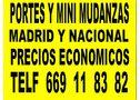 portes y mudanzas madrid y nacional 0.33el km  - En Madrid, Fuenlabrada